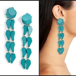 Lele Sadoughi Aqua Wisteria Confetti Earrings